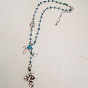 Jewelry - Handmade turquoise & silver necklace